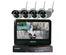 insoer 4CH CCTV Wireless NVR kit Monitor System Wifi LCD NVR Kits